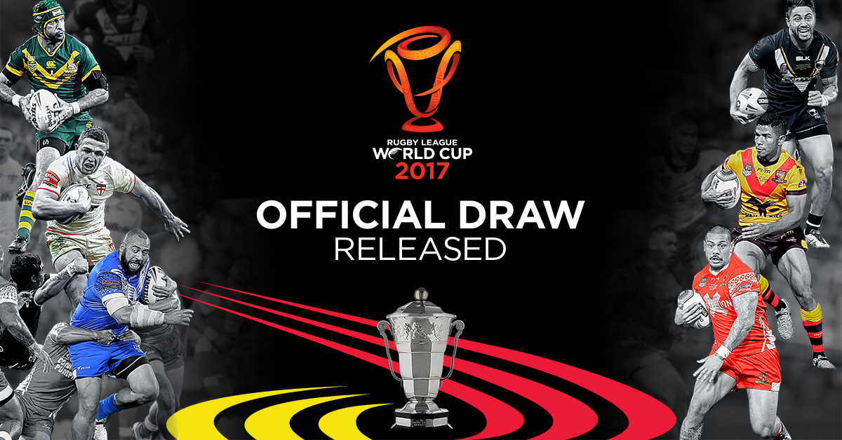 2017 Rugby League World Cup draw released