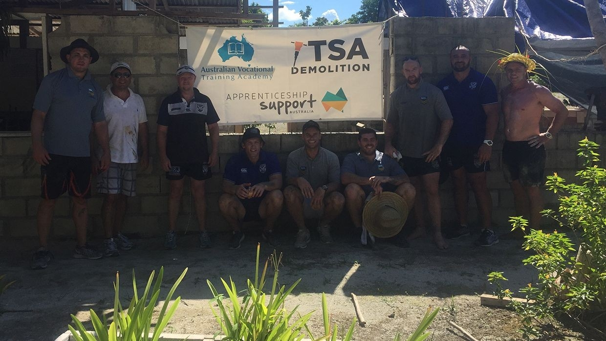 Bulldogs support project in PNG