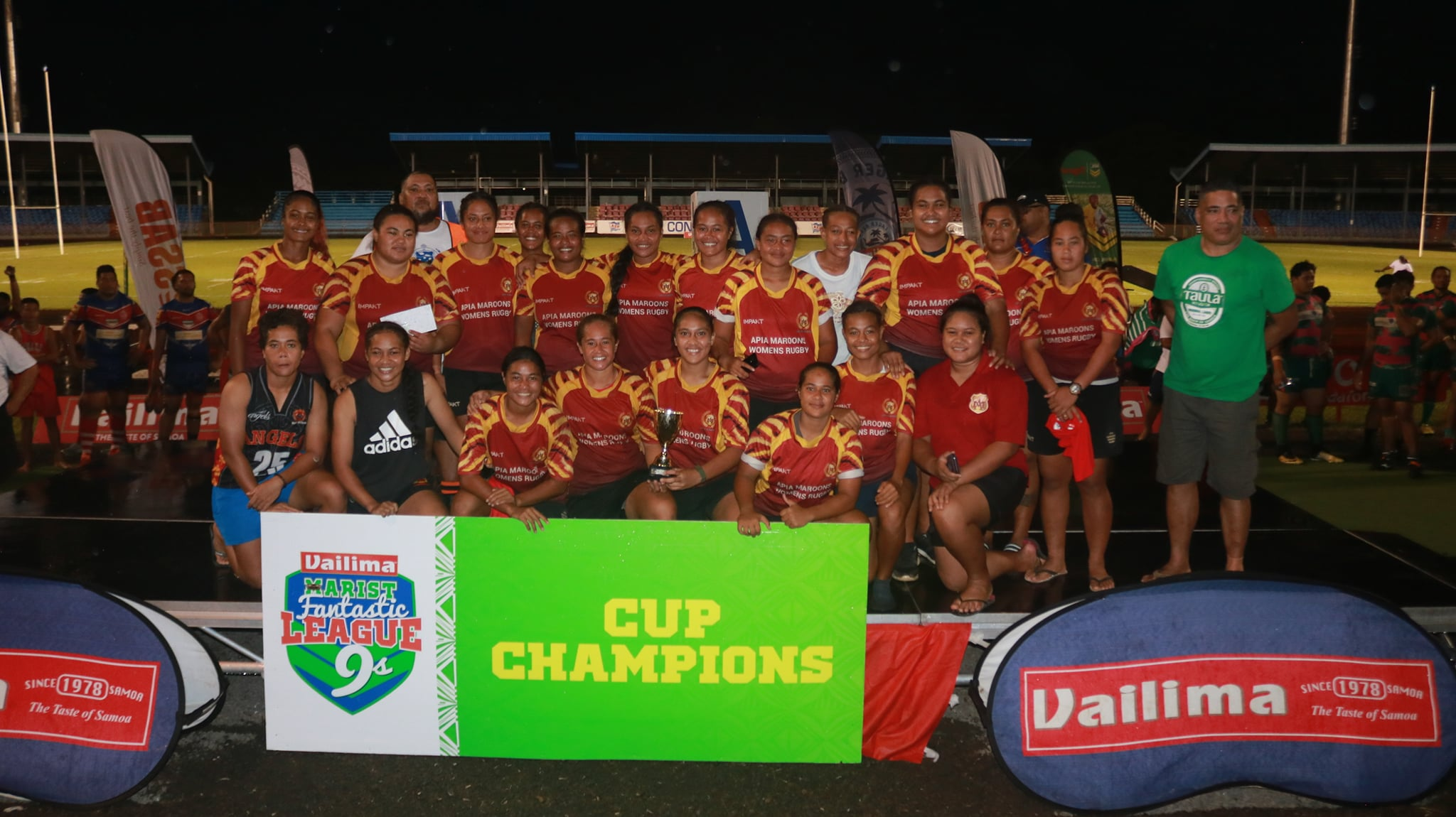 Apia Maroons and Marist Saints successfully defend Nines title