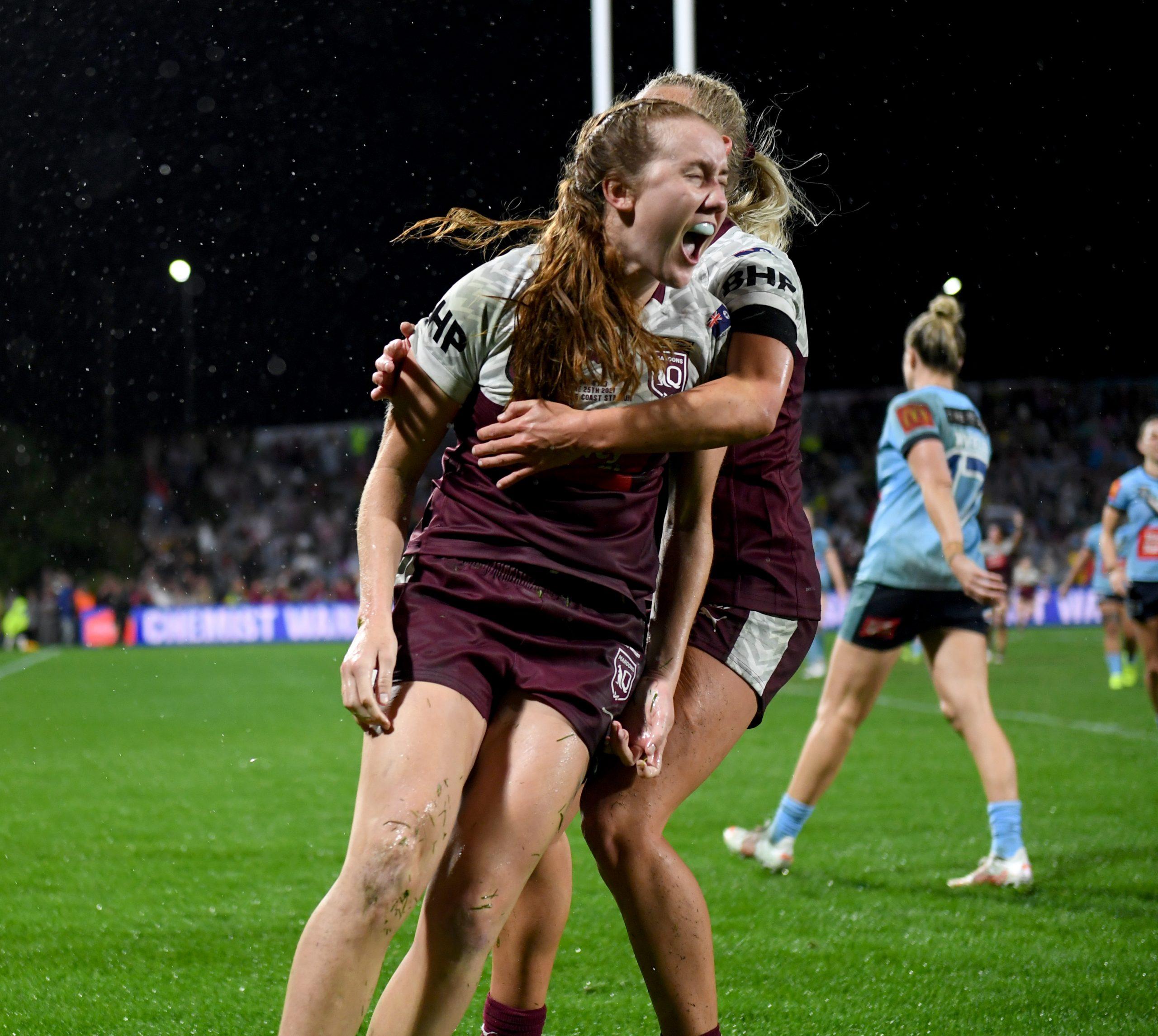 Last-minute penalty goal gives Queensland Maroons win over NSW Sky Blues in Women's Origin