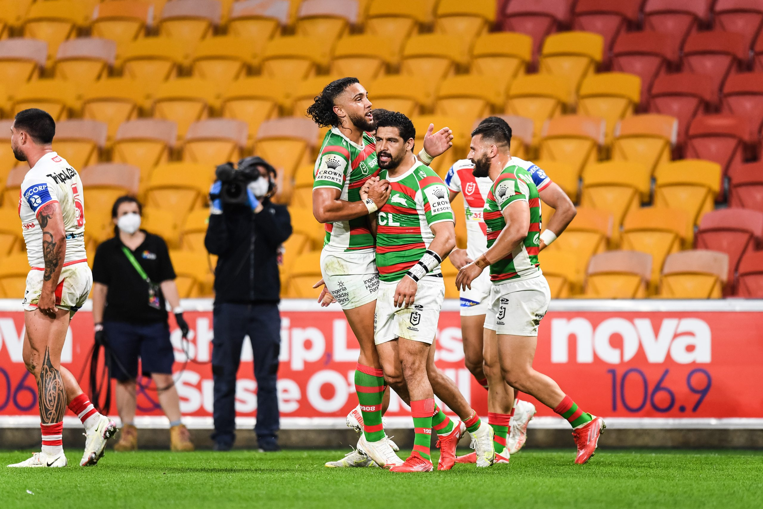 Walker runs rings around Red V as Rabbitohs romp to victory